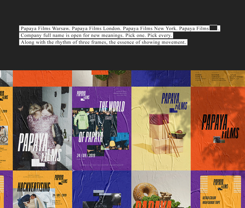 Papaya Films re-branding,Lukasz Slotwinski,Alan Kamiński,Jakub Rostkowski,Ola Procak