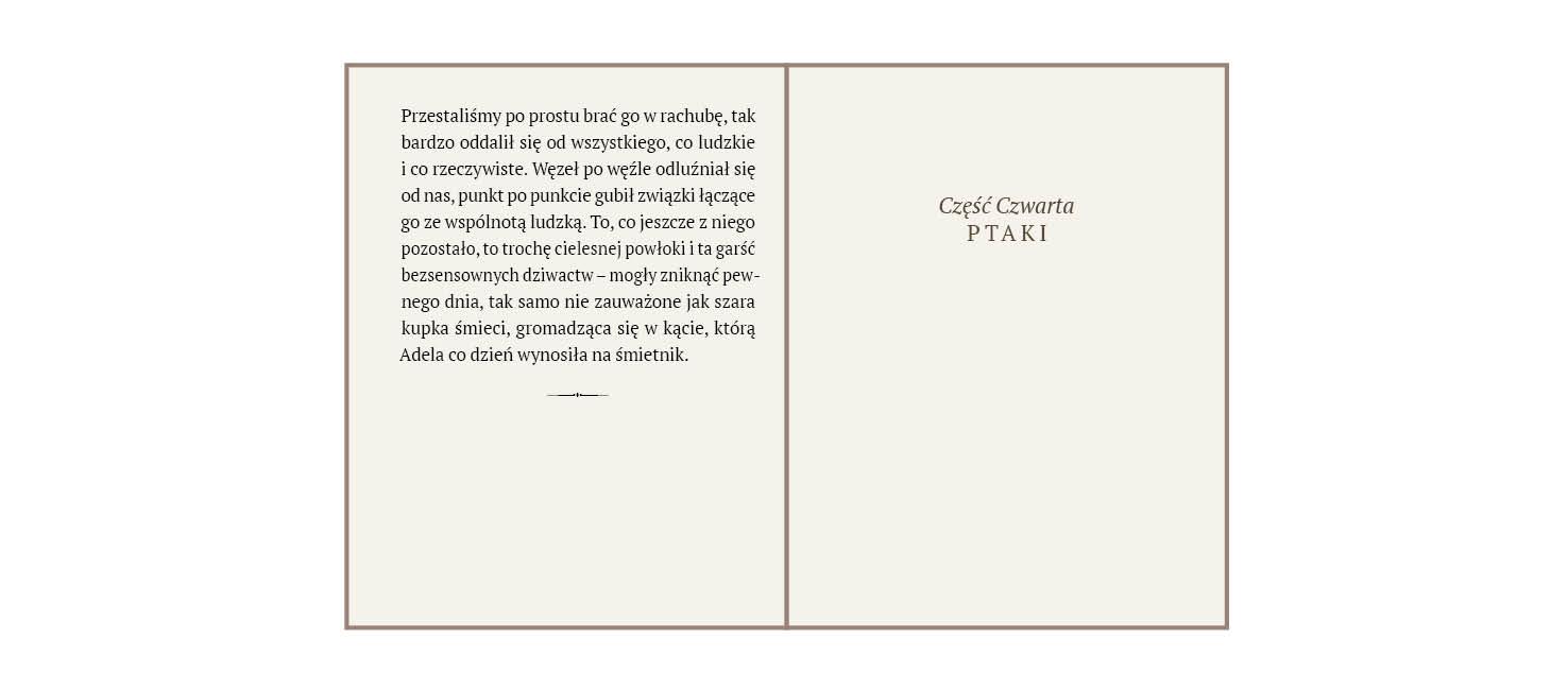 rys.4.Wewnętrzna strona tytułowa z tytułem (recto)  i sąsiadująca z nią strona szpicowa (verso), zakończona ornamentem
