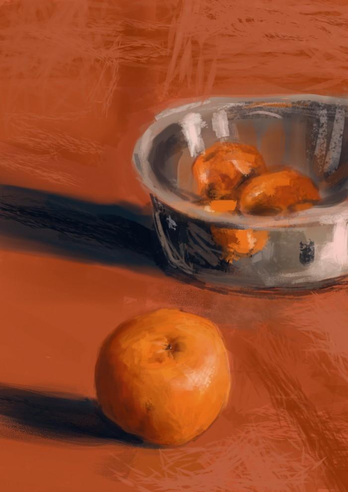 09 Martwa natura, czyli jak malowac pomarancze, speedpainting