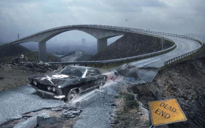 Tworzymy klimatyczna fotomanipulacje sceny poscigu w Adobe Photoshop, maski, deszcz,  (11)