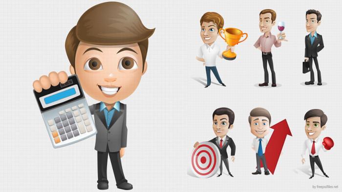 Businessman-Vector-Character-Set-1