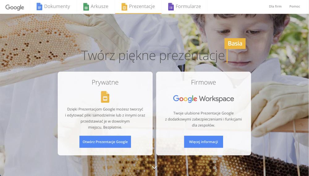 Prezentacje Google