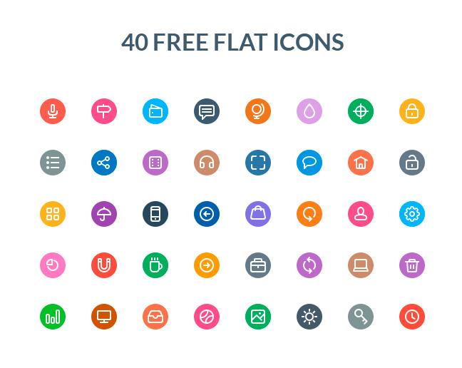 40-Free-Flat-Icons