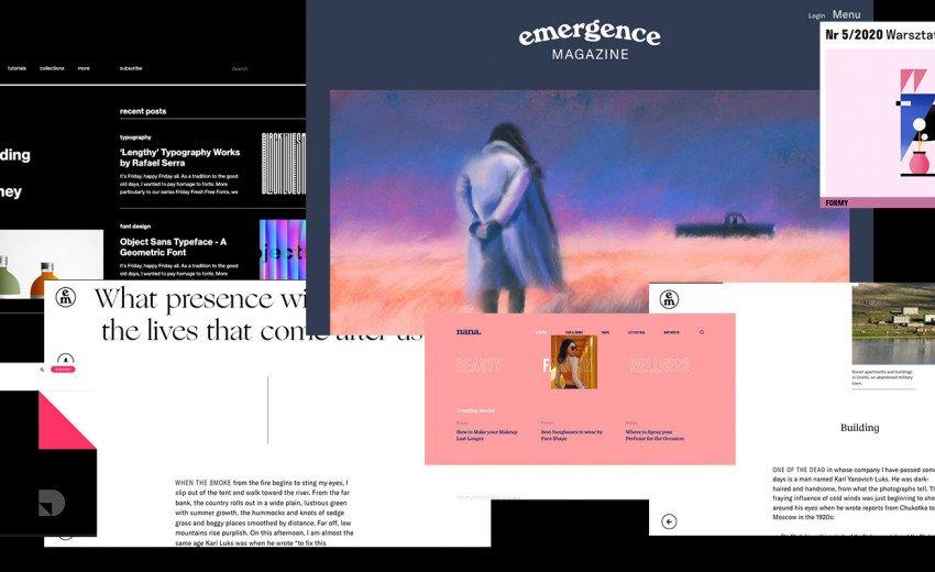 Okładka artykułu Ciekawe projekty blogów i magazynów — Inspirujące strony internetowe - lipiec 2020