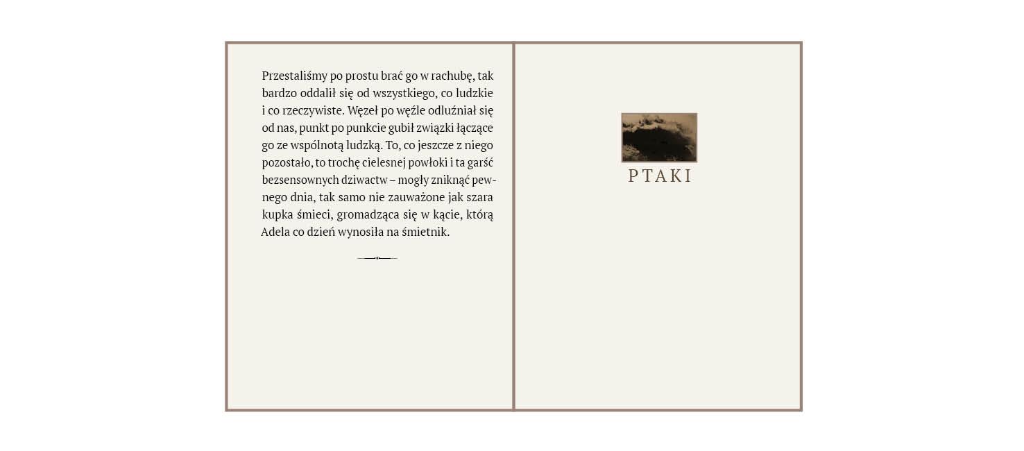 rys.6.Wewnętrzna strona tytułowa z ilustracją i tytułem oraz strona szpicowa