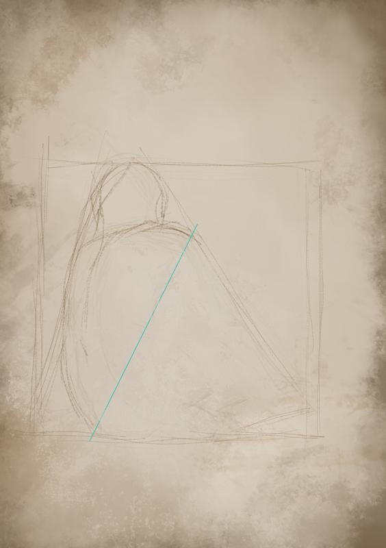 Rys. 8. Wstępne wyznaczenie torsu i przestrzeni ręka-tors