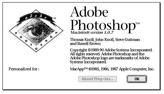 Photoshop w wersji 1.07
