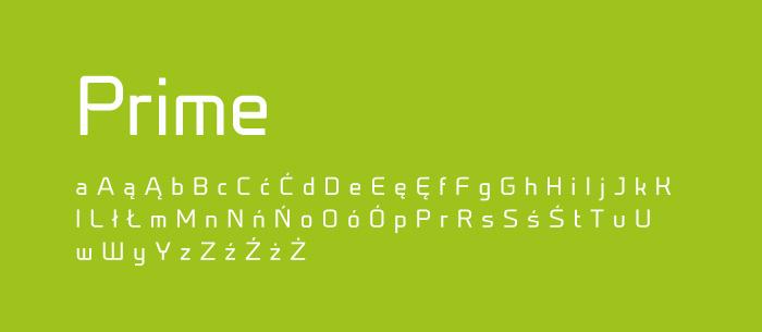 07 Prime Darmowe fonty z polskimi znakami