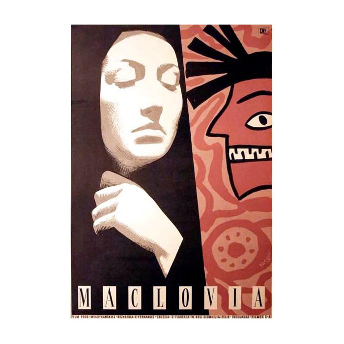 Plakat 5: Wojciech Fangor, Plakat do filmu Maclovia, 1955
