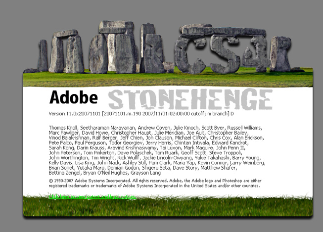 Adobe Photoshop Stonehenge