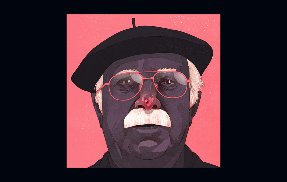 Portret Karola Śliwki autorstwa Patryka Hardzieja