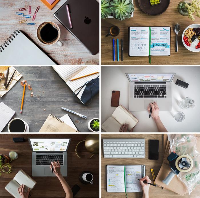 Zdjęcia pracy przy biurku
