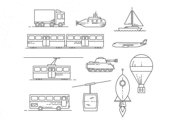 free-transit-illustration-set