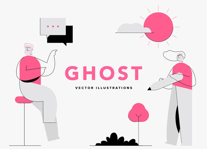 Ghost Vector Illustrations