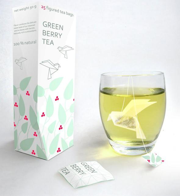 Wyjątkowe woreczki na herbatę, których autorką jest Nathalia Ponomareva - via packaginguqam