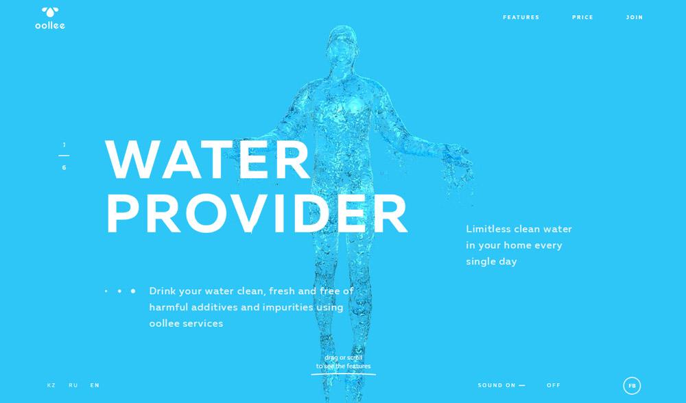 Inspirujące strony internetowe - Ollee Water
