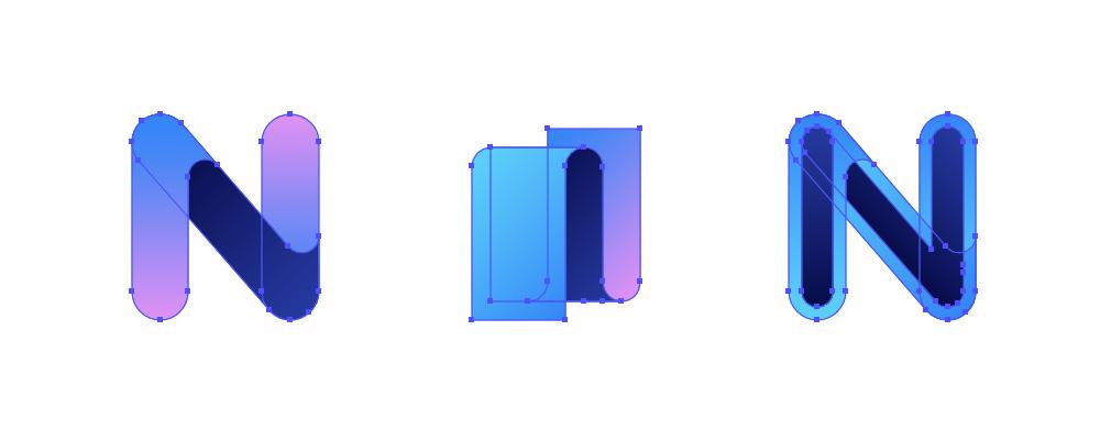 Nachodzenie na siebie elementów logo