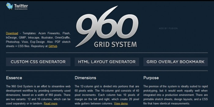 01 960 Grid system tutorial layout
