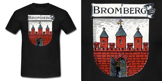 Koszulka z herbem Bydgoszczy, źródło sklep Koszulki Historyczne