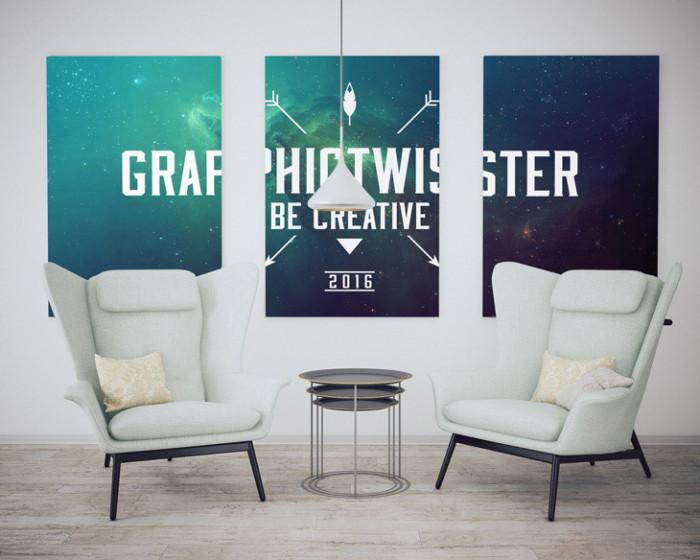 Modern-Triple-Poster-Frame