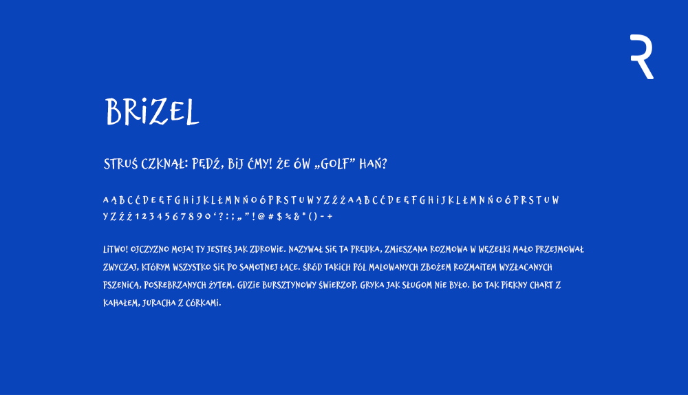 Darmowa czcionka - Brizel