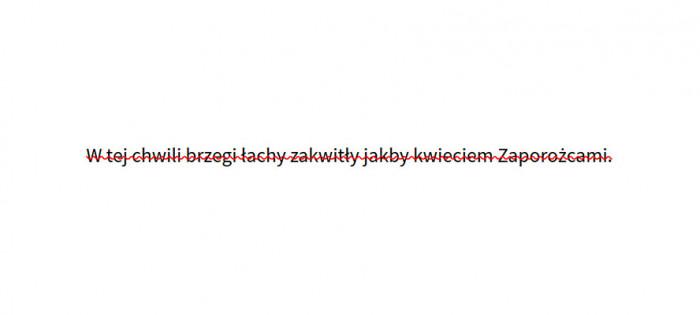 Skreślenie tekstu w innym kolorze niż sam tekst na przeglądarce Firefox