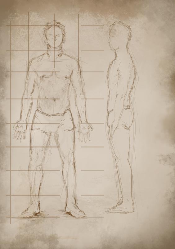 Rys. 1. Proporcje postaci dorosłego mężczyzny