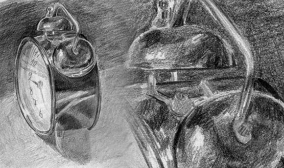 Rysując przedmioty bardzo ważna jest obserwacja – staraj się jak najczęściej spoglądać na rysowany obiekt, a jak najmniej odtwarzać z wyobraźni
