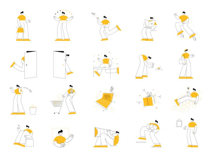 20 Onboarding IllustrationsSketch Resource