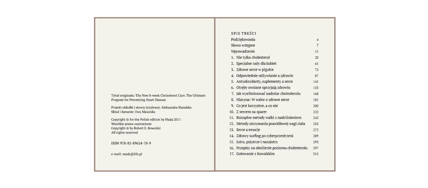 rys.8.Wygląd strony redakcyjnej (verso) i sąsiadującej z nią strony (recto) ze spisem treści