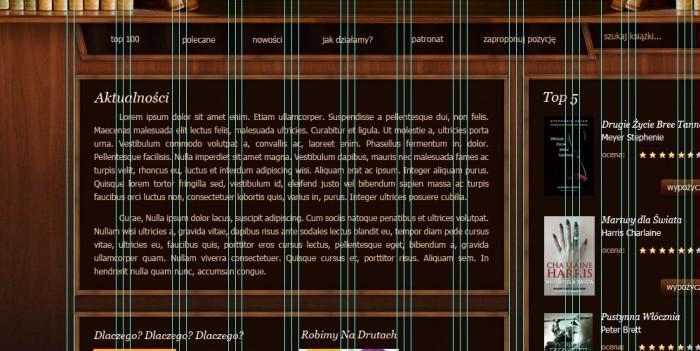 22 Layout strony biblioteki internetowej