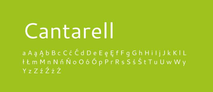 03 Cantarell Darmowe fonty z polskimi znakami
