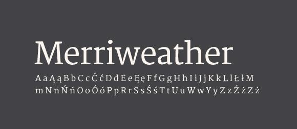 04 Darmowe fonty z polskimi znakami - Merriweather