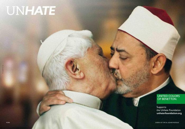 Kampania #Unhate, 2011, papież Benedykt XVI i imam Ahmed el Tajeb