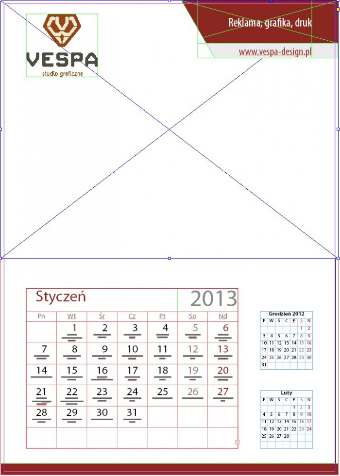 10 Projektujemy kalendarz z imieninami Indesign Kalendarium