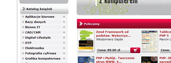 Menu pionowe serwisu helion.pl