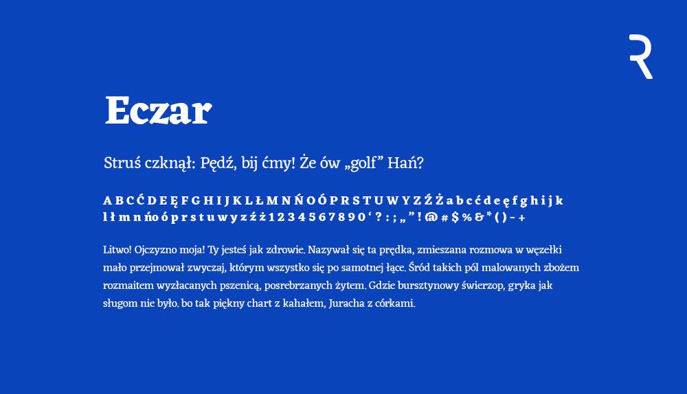 Darmowy font Eczar