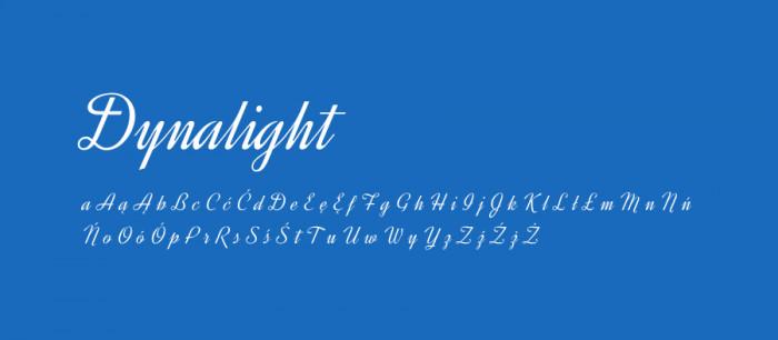 17 Dynalight Darmowe fonty z polskimi znakami