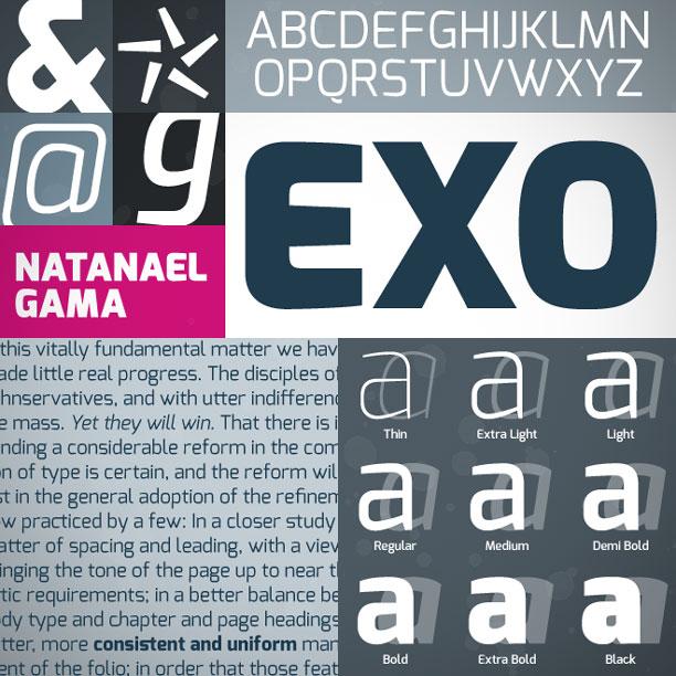14 Exo Darmowe fonty z polskimi znakami