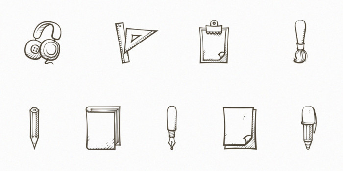 Set-Of-9-Handdrawn-Icons