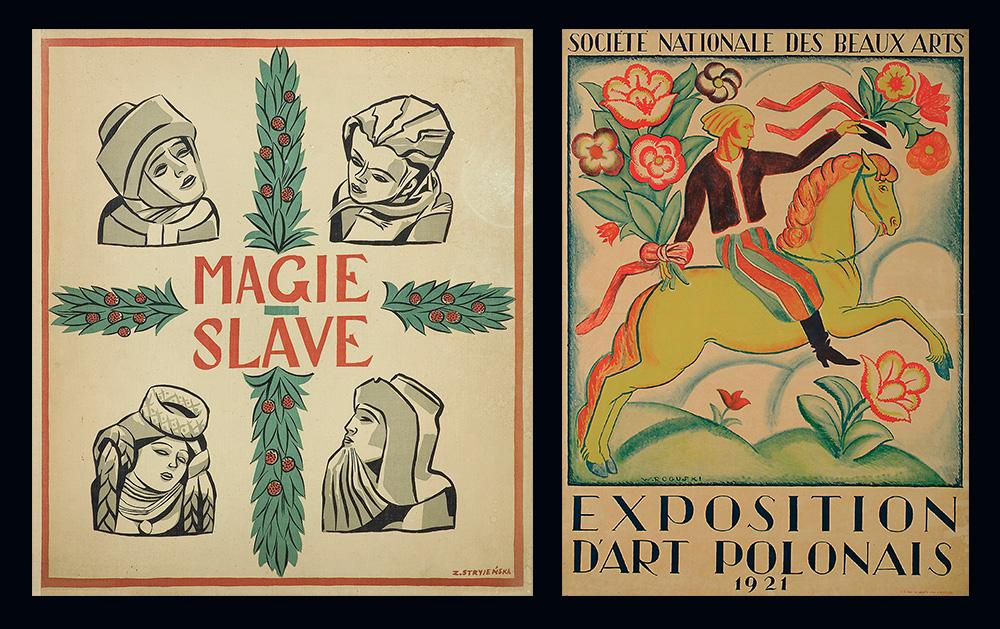 Zofia Stryjeńska, Magic of the Slavs - około 1934,Władysław Roguski, Société Nationale des Beaux Arts, Exposition D'Art Polonais (Narodowe Stowarzystwo Sztuk Pięknych, Wystawa Polskiej Sztuki) - 1921