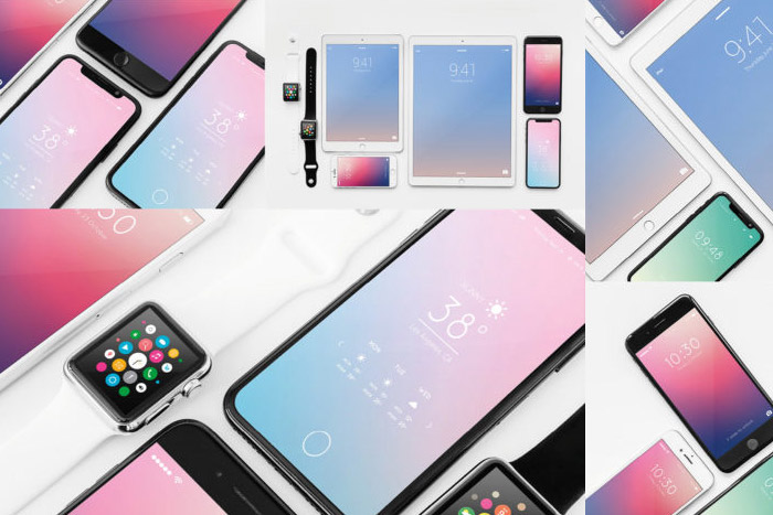 Free Apple device mockups pack