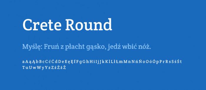 Crete-Round-materialy-Darmowe-fonty-z-polskimi-znakami