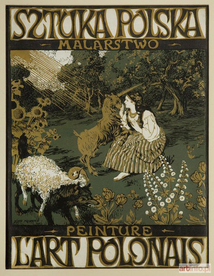 Projekt okładki do Sztuki Polskiej (1903, litografia barwna) Józef Mehoffer
