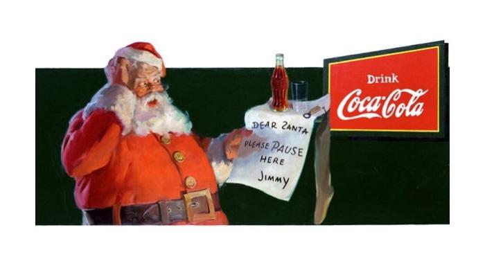 Reklama Coca Cola ze Świętym Mikołajem
