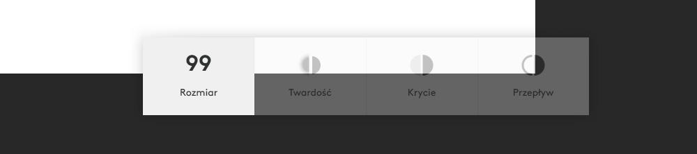 Opcje klawiatury Logitech Craft w Photoshopie