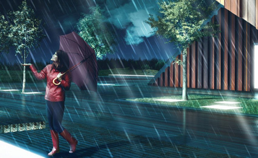 Okładka artykułu Architektura w deszczowej aurze — Tutorial Sketchup i Photoshop