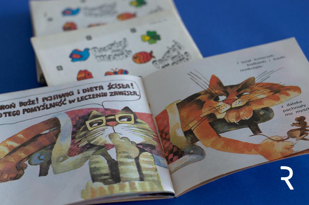 Maria Uszacka - ilustracje do książki Chory kotek - Stanisława Jachowicza