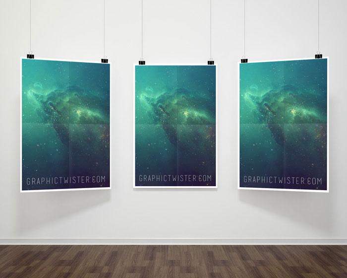 Triple-Hanging-Poster-Frame-Mockup-PSD