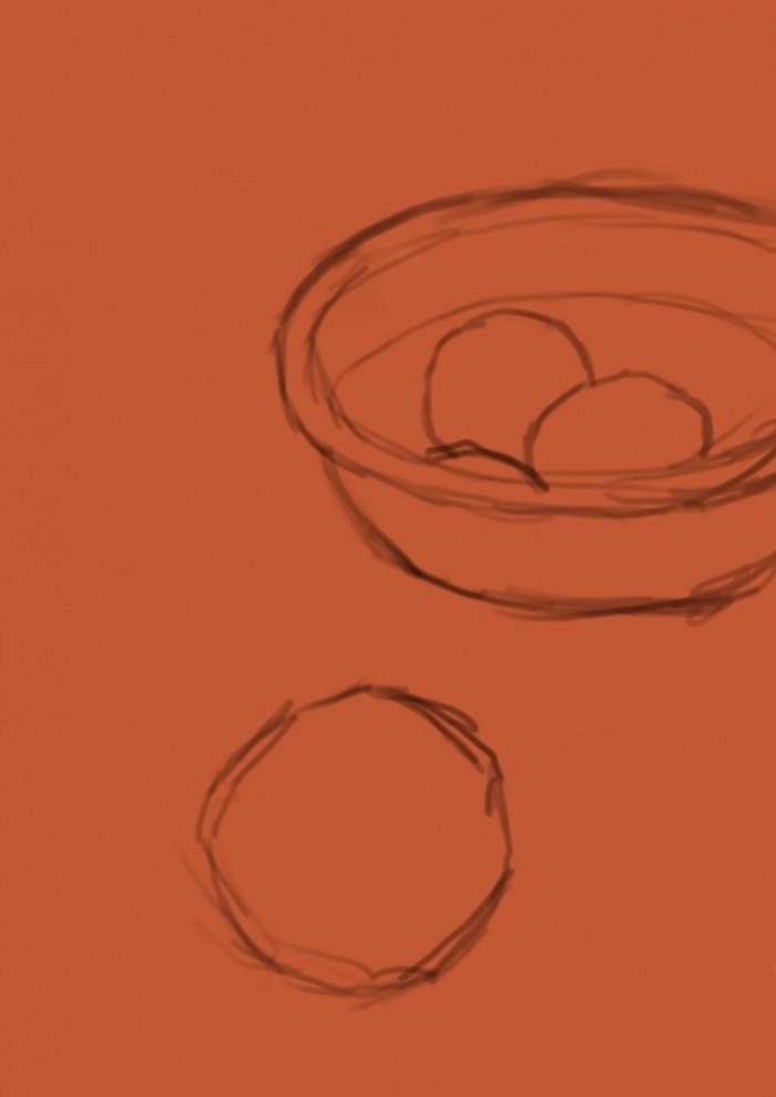 02 Martwa natura, czyli jak malowac pomarancze, szkic